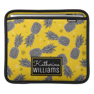 Pineapples On Gold | Add Your Name iPad Sleeves