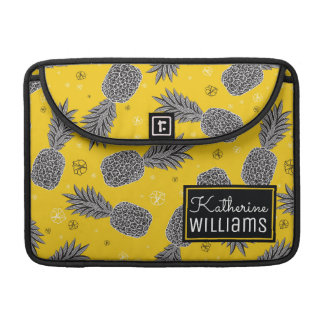 Pineapples On Gold | Add Your Name MacBook Pro Sleeve