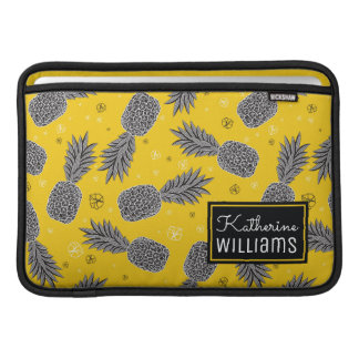 Pineapples On Gold | Add Your Name Sleeve For MacBook Air