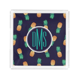 Pineapples On Navy | Monogram