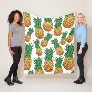 Pineapples Pattern fleece blankets