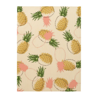 Pineapples & Pine Cones Wood Wall Decor