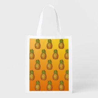 Pineapples Reusable Grocery Bag