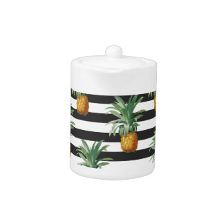 pineapples stripes grey