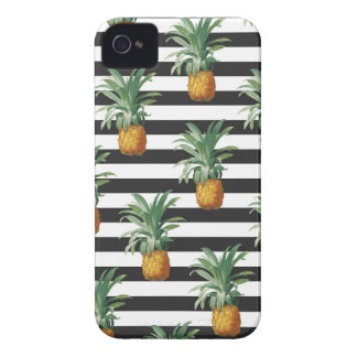 pineapples stripes grey iPhone 4 Case-Mate case