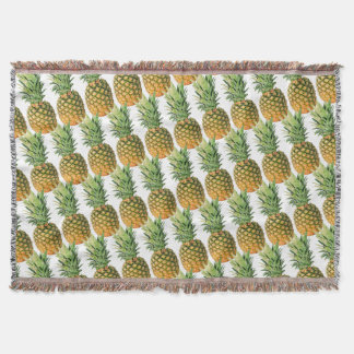 Pineapples Throw Blanket