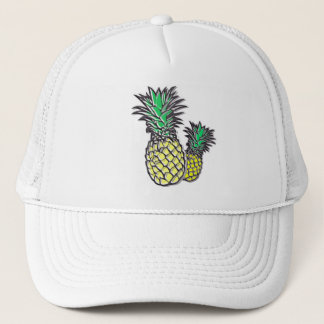Pineapples Tropical Island Trucker's Hat