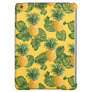 Pineapples & Tropical Leaves On Gold