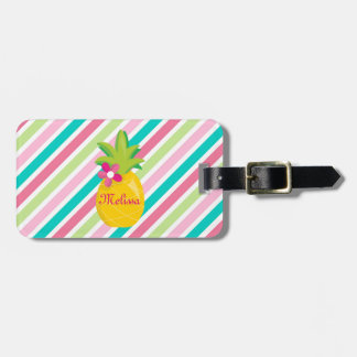Pineapples Tropical Personalized Luggage Tag