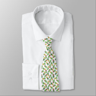 Pineapples with Retro Sunglasses Pattern Tie