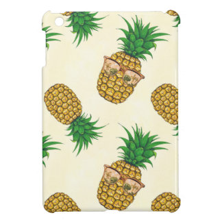 Pineapples with Sunglasses Hand Painted Case For The iPad Mini