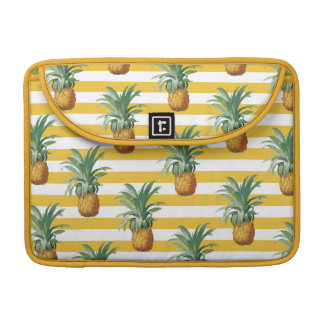 Pineapples Yellow Stripes Pattern Chic Sleeve For MacBook Pro