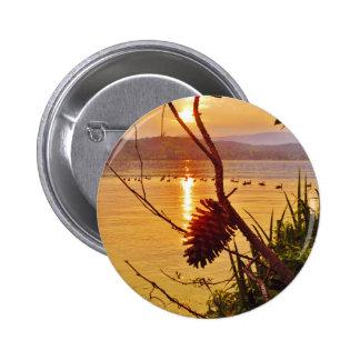Pinecone Lake sunset Button