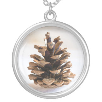 Pinecone Silver Plated Necklace
