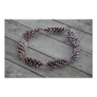 Pinecone Wreath Poster
