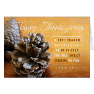 Pinecones & Copper Bowl Thanksgiving Card