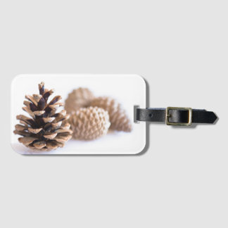 Pinecones Luggage Tag