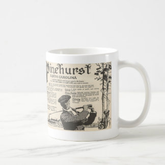 Pinehurst NC tourism advertisement from 1916 Coffee Mug