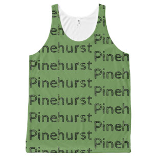 Pinehurst repeat can text rustic All-Over print singlet