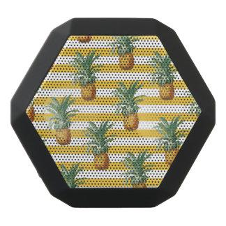 pinepples yellow stripes black bluetooth speaker