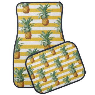 pinepples yellow stripes car mat
