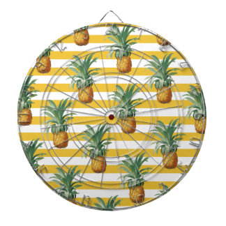 pinepples yellow stripes dartboard