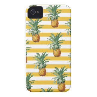 pinepples yellow stripes iPhone 4 cover