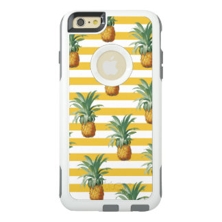pinepples yellow stripes OtterBox iPhone 6/6s plus case