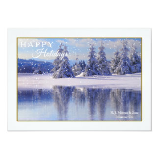 Pines in the Snow Holiday Card