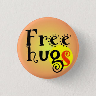pines short prop Free hugs GS enterlaced 3.2 cm 3 Cm Round Badge