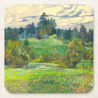 Pines Square Paper Coaster