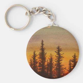 Pinetree Sunset Key Ring