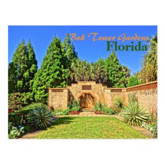 Pinewood Estate Fountain Bok Tower Gardens Florida Postcard