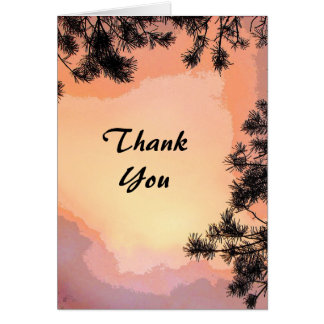 Piney Sunset Thank You Greeting Card