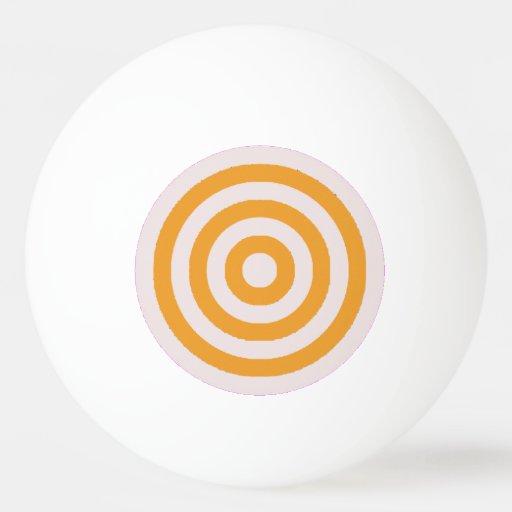 Ping Pong Ball - Cream and Orange Circles