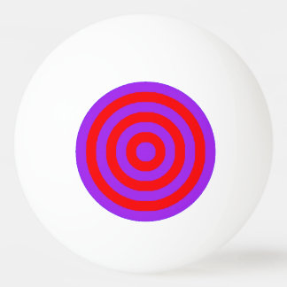 Ping Pong Ball - Purple and Red Inner Circles