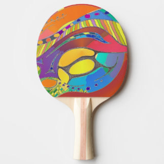 Ping Pong Bat in Bold Organic Abstract Art Design