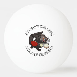 Ping Pong Binturong Table Tennis Player Bearcat Ping Pong Ball