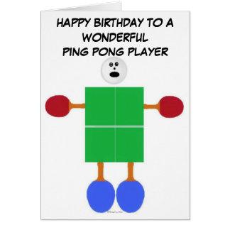 Ping Pong Birthday Card