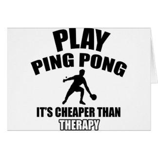 ping pong design card