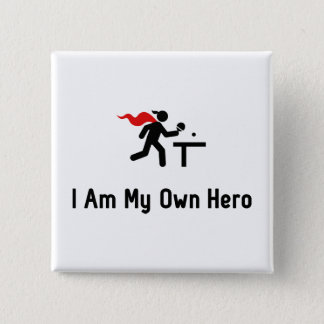 Ping Pong Hero 15 Cm Square Badge