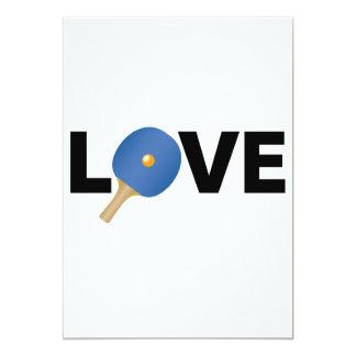 Ping Pong Love Emblem (Blue) 13 Cm X 18 Cm Invitation Card