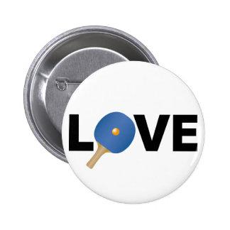Ping Pong Love Emblem (Blue) 6 Cm Round Badge