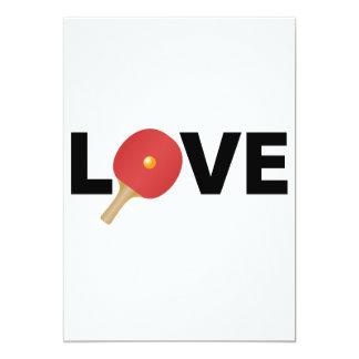 Ping Pong Love Emblem (Red) 13 Cm X 18 Cm Invitation Card