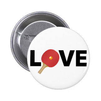 Ping Pong Love Emblem (Red) 6 Cm Round Badge
