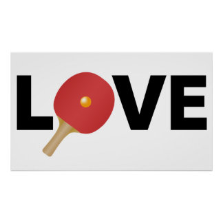 Ping Pong Love Emblem (Red) Poster