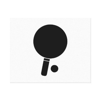 Ping Pong Paddle and Ball Gallery Wrap Canvas
