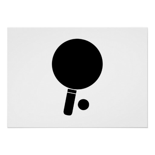 Ping Pong Paddle and Ball Poster