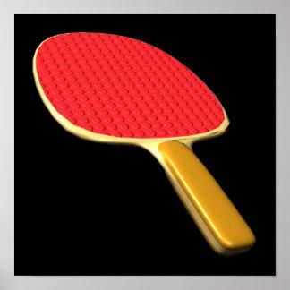 Ping Pong Paddle Poster