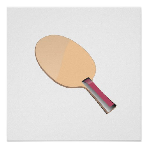 Ping Pong Paddle Posters